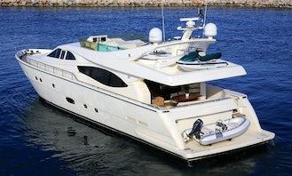 Captained Charter onboard 76' Ferretti Power Mega Yacht in Ornos, Greece