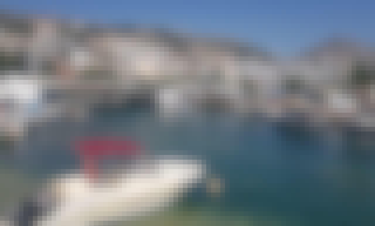 """Discover the Coastline of Saranda on """"Notari- 1"""" Corallo Deck Boat!"""