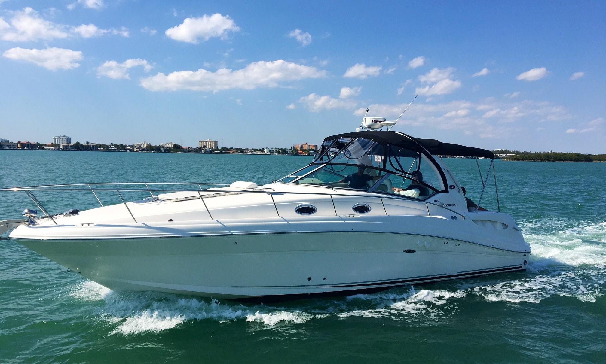 Charter 37' Sea Ray Sports Yacht In Miami Beach, Florida