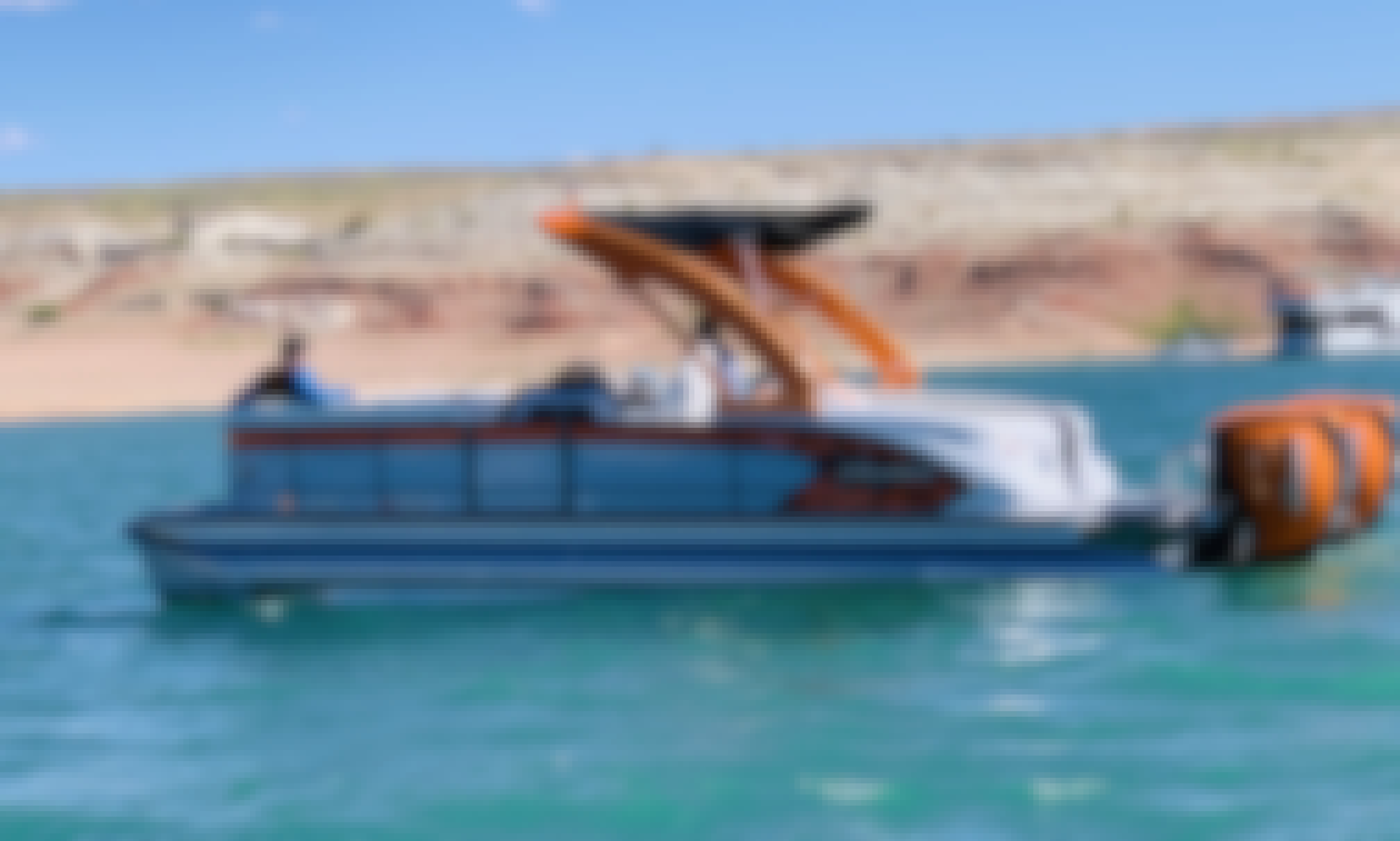 See Lake Powell in our Manitou XPlode.  Cruise in luxury with this fast smooth boat.  You can see most of the lake in a day.  $899 a day minimum 2 day rental