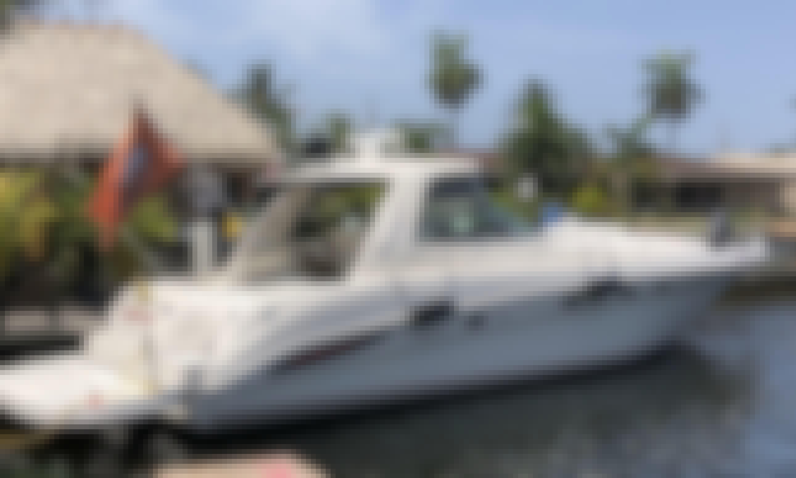 AWESOME SeaRay Sundancer Motor Yacht Charter + Pool/Tiki Bar Rental Experience!!