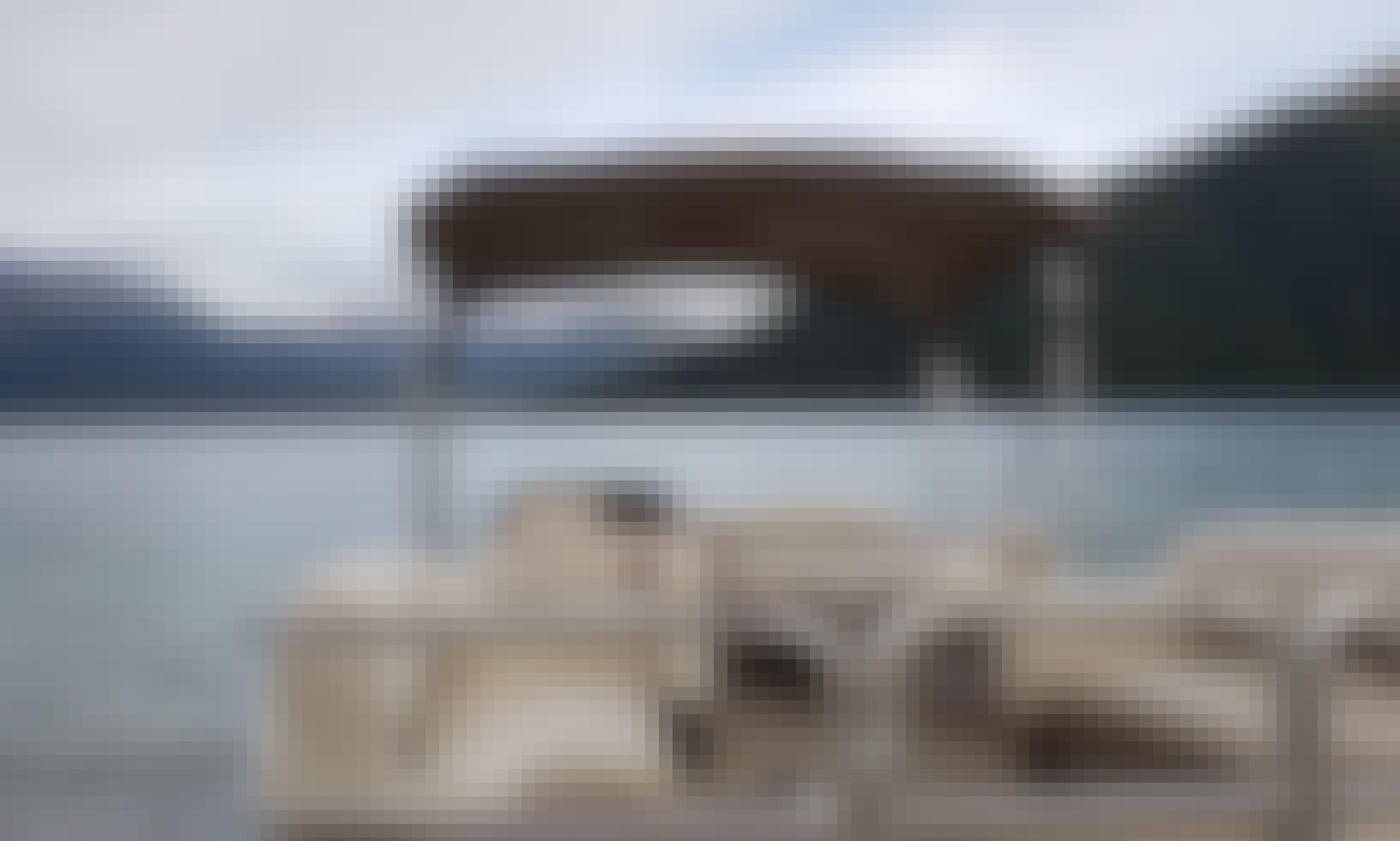 21' Pontoon Boat in the Yukon
