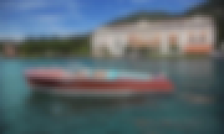 26' Riva Tritone Wooden Boat Rental in Laglio, Lombardia