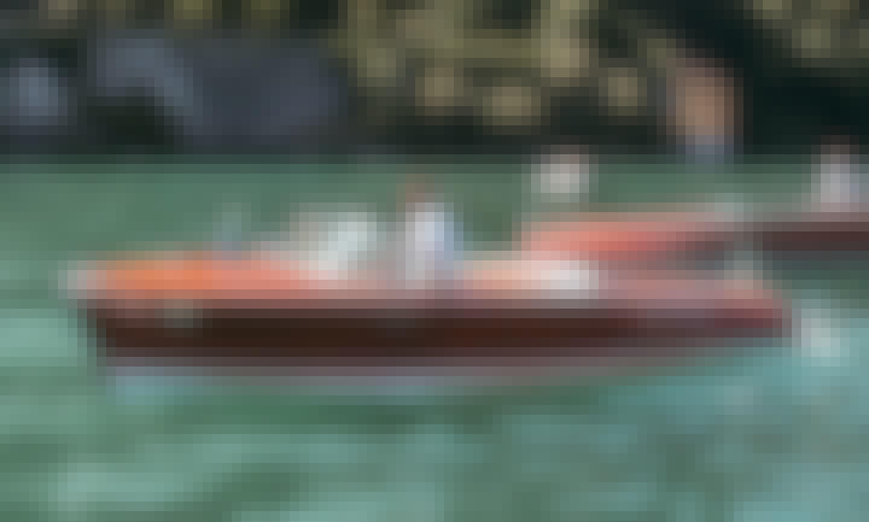 20' Riva Super Ariston Wooden Boat Rental in Laglio, Lombardia