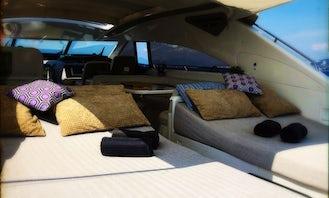 V65' Open Princess Motor Yacht / Cannes, St Tropez , Monaco .