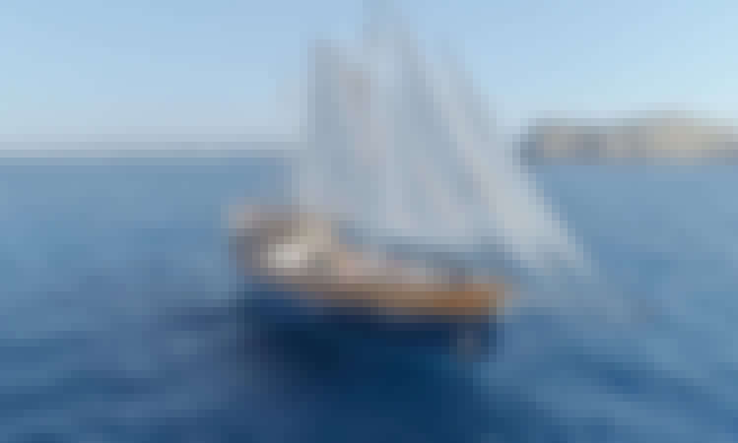Wonderful Day at Sea with Classic Luxury Yacht Charter in Ibiza, Spain