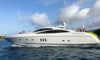 Charter the 82' Sunseeker Luxury Motor Yacht in Fajardo, Puerto Rico. Only full day Charters.