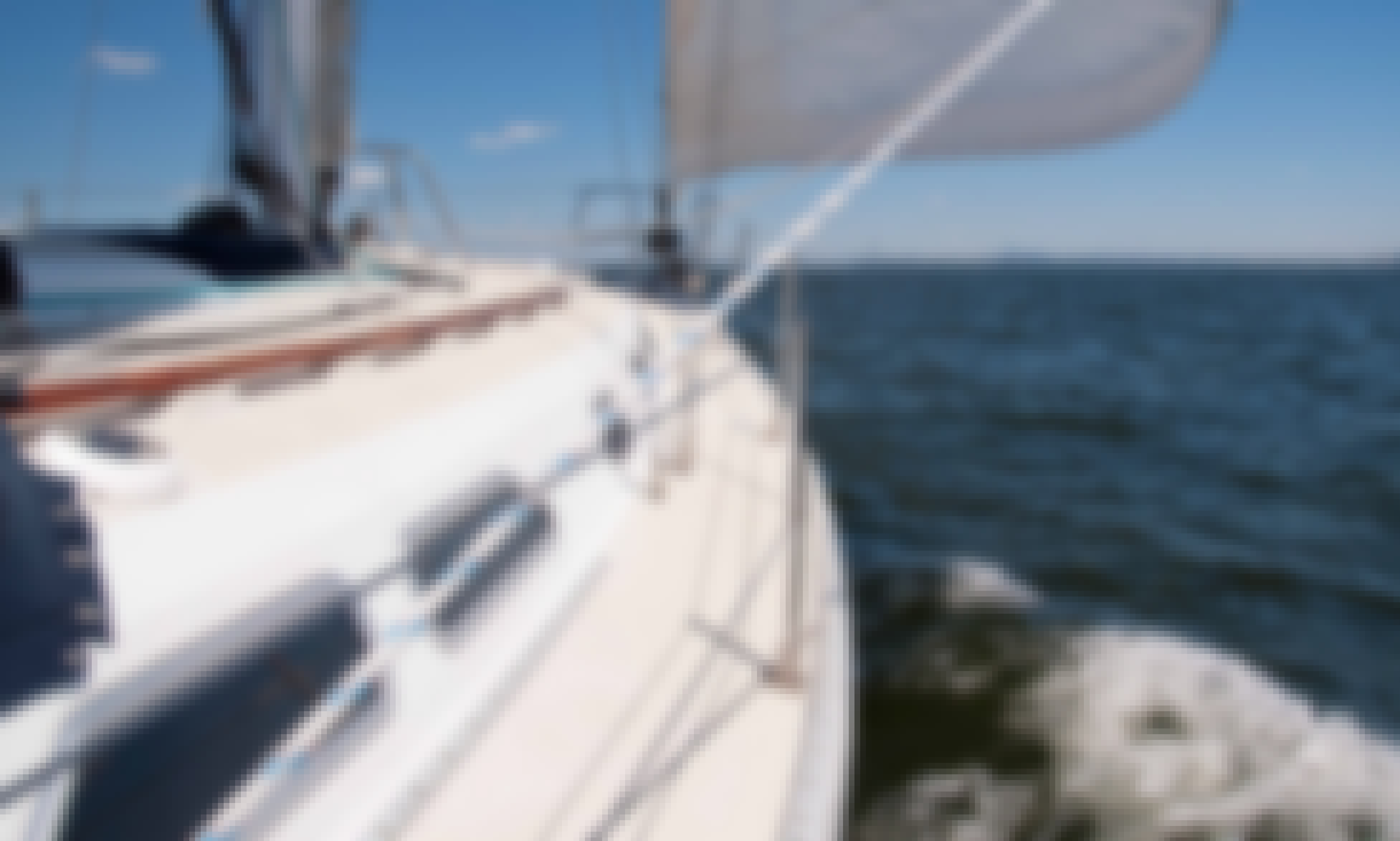 Set sail on NY Harbor aboard this beautiful and luxurious Ericson sloop!