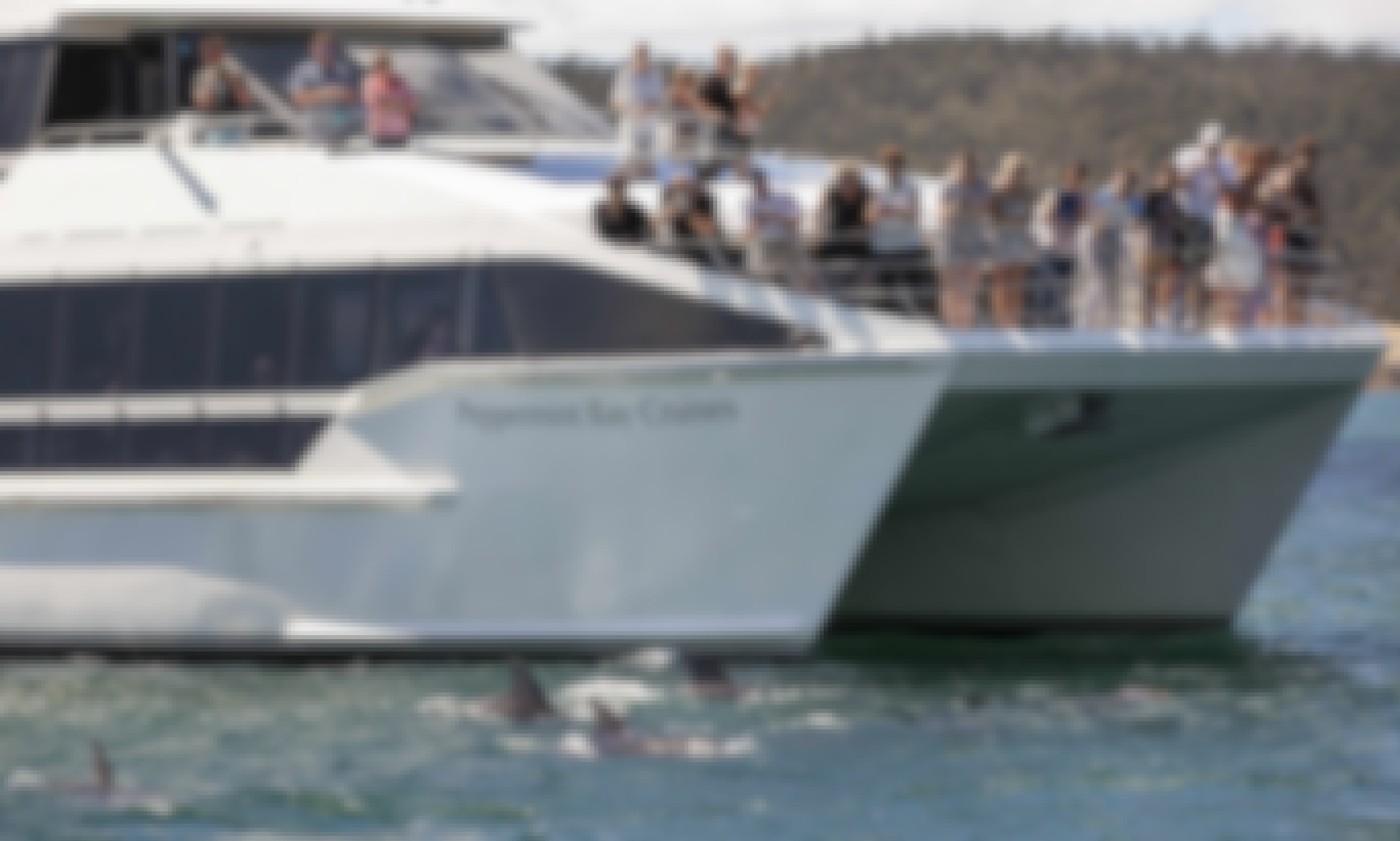 75' Peppermint Bay II Power Luxury Catamaran Private Hire in