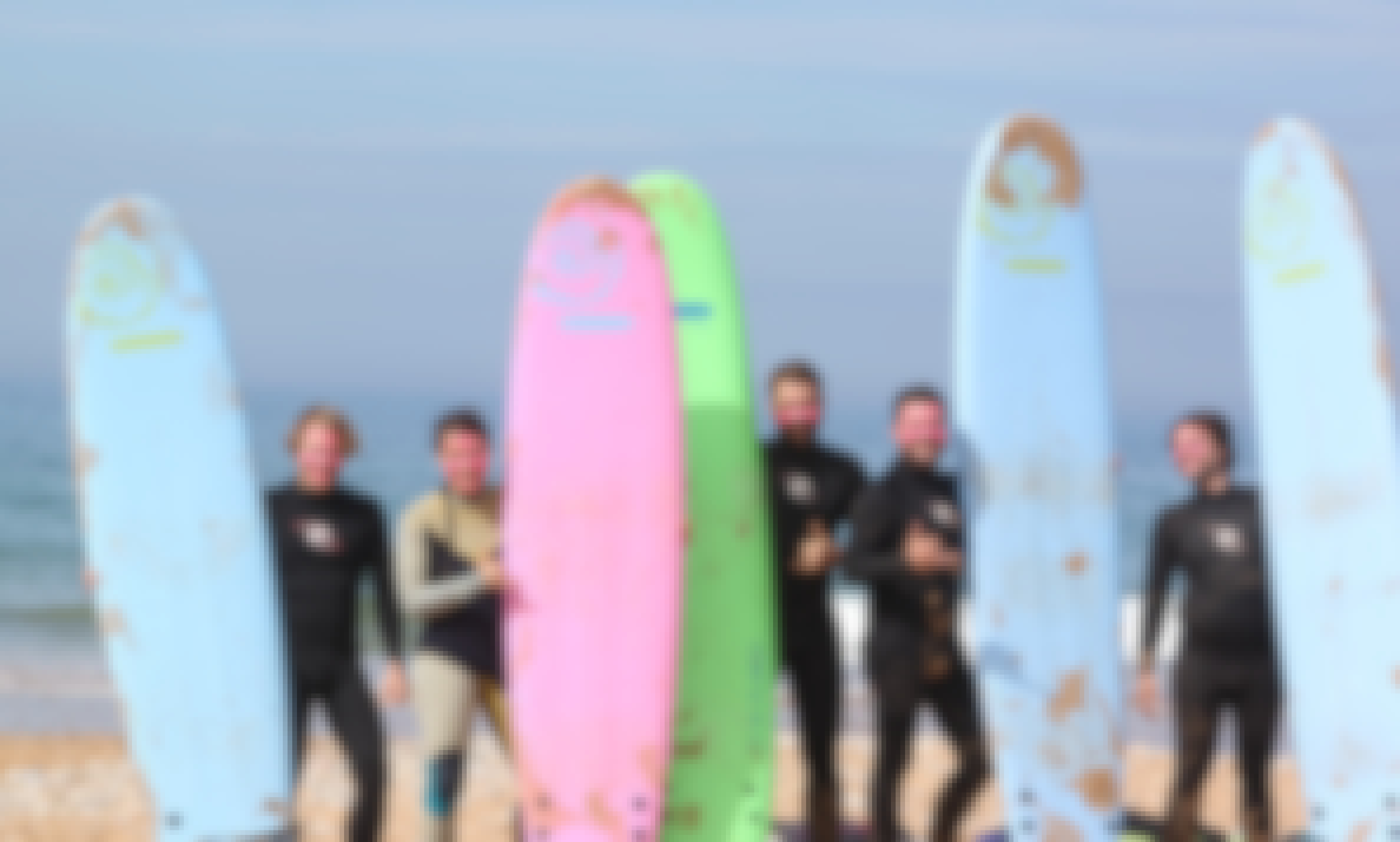 Surf Class in Tamraght, Morocco with a certificate ISA surf Instructor