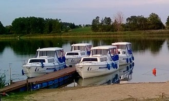Charter 7 People Houseboat at the Great Loop of Greater Poland - 4 Boats Available!