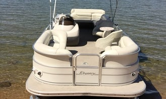27 ft SunTracker Party Barge Pontoon Bareboat Charter Rental for 13 People in South Lake Tahoe
