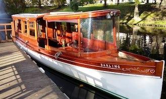 Historical boat Darling rental in Riga