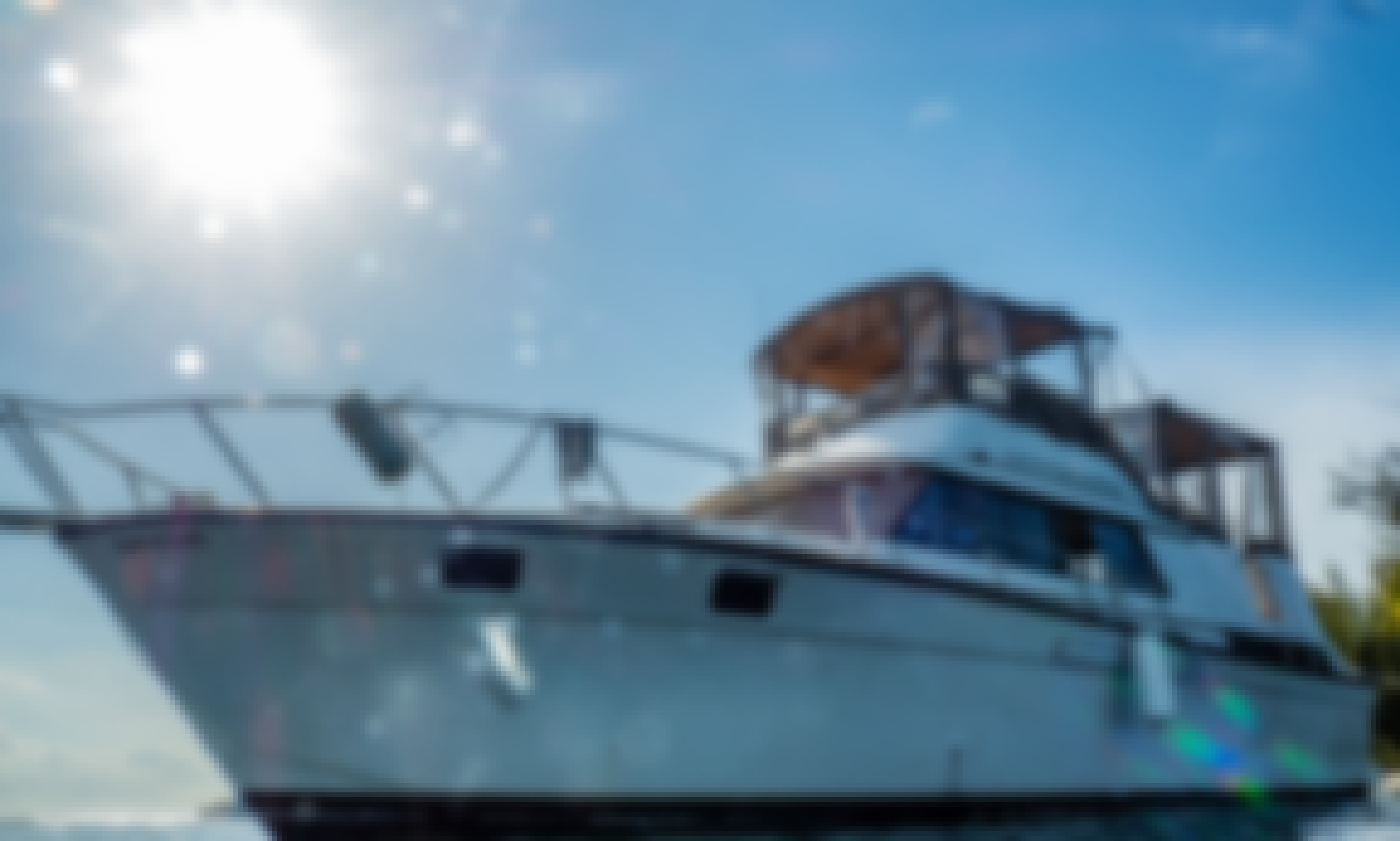 40' Sylverton Motor Yacht Charter - Friendly North Sound Exploration, Swim, Snorkel, Relax :)