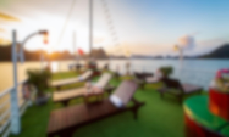 Lavender Elegance Cruises, 3-day Kayak, Caves, Taichi, Seaview from Hanoi!