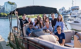 Sanpan Pontoon Boat Rentals in Downtown Vancouver