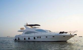 66' Majesty Luxury Power Mega Yacht Charter in Penha de França Goa, India