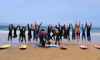 Surf Lesson for Beginner to Intermediate and Surf Safari Guiding Packages in Tamraght, Souss Massa