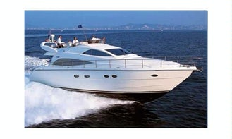 Aicon 56 Fly Motor Yacht Charter for Up to 12 People in Giardini Naxos, Italy