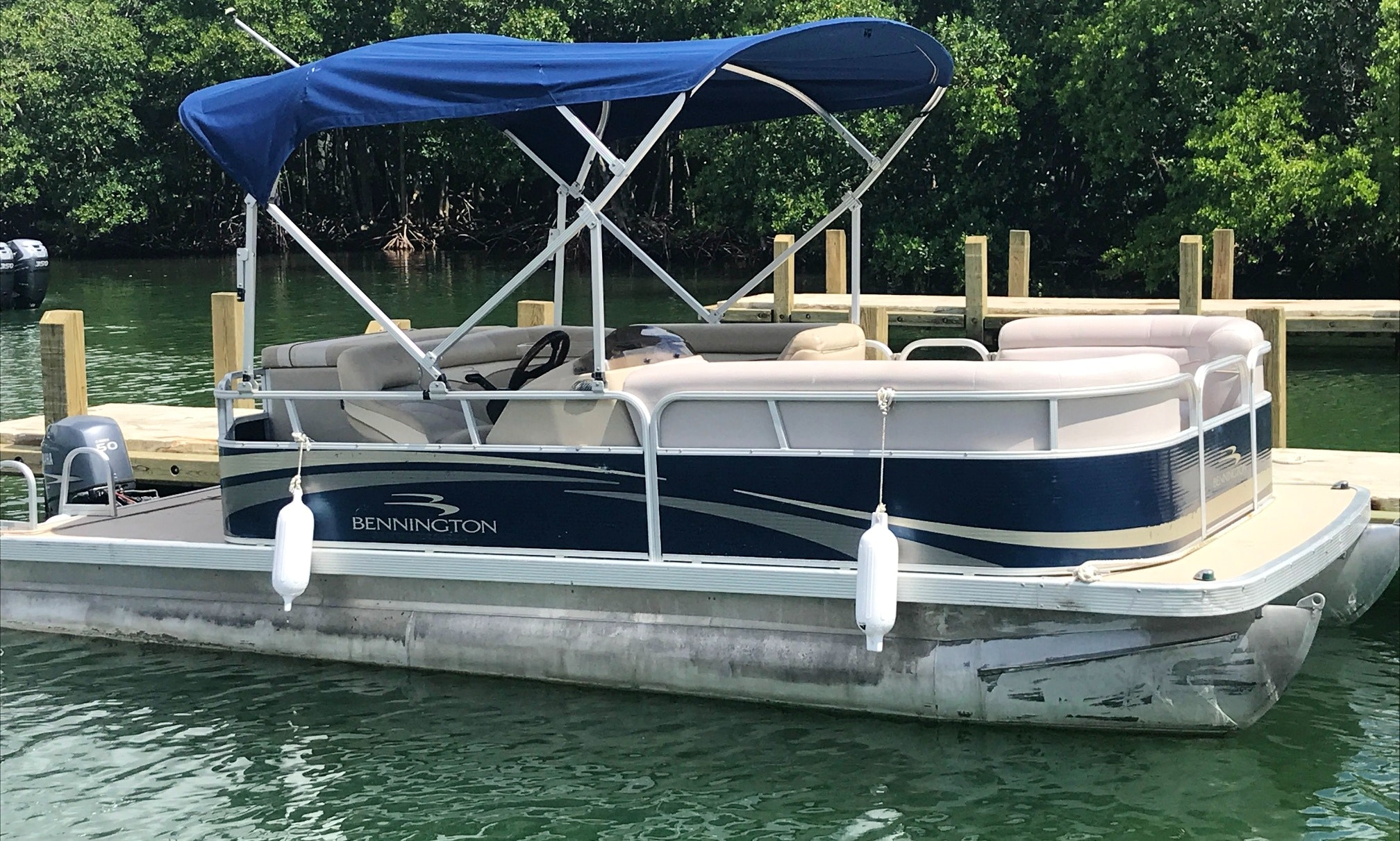 Rent A 20 Bennington Pontoon For 9 Person In Sunny Isles