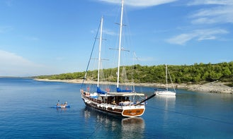 "Crewed Charter on 85' Sailing Gulet ""Malena"" for 10 Person in Šibenik, Croatia"