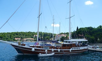 Water Adventure for 14 Person! Charter the 98' Sailing Gulet with 4 Person Crew in Šibenik, Croatia!