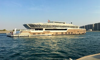 Celebrate your events on a beautiful Mega Yacht that can take 500 people in Dubai!