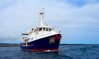 Cachalote Explorer Power Mega Yacht Charter in Galapagos Islands!