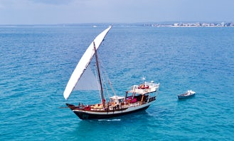 Luxury 60-Foot Traditional Sailing Charter Dhow in Zanzibar, Tanzania