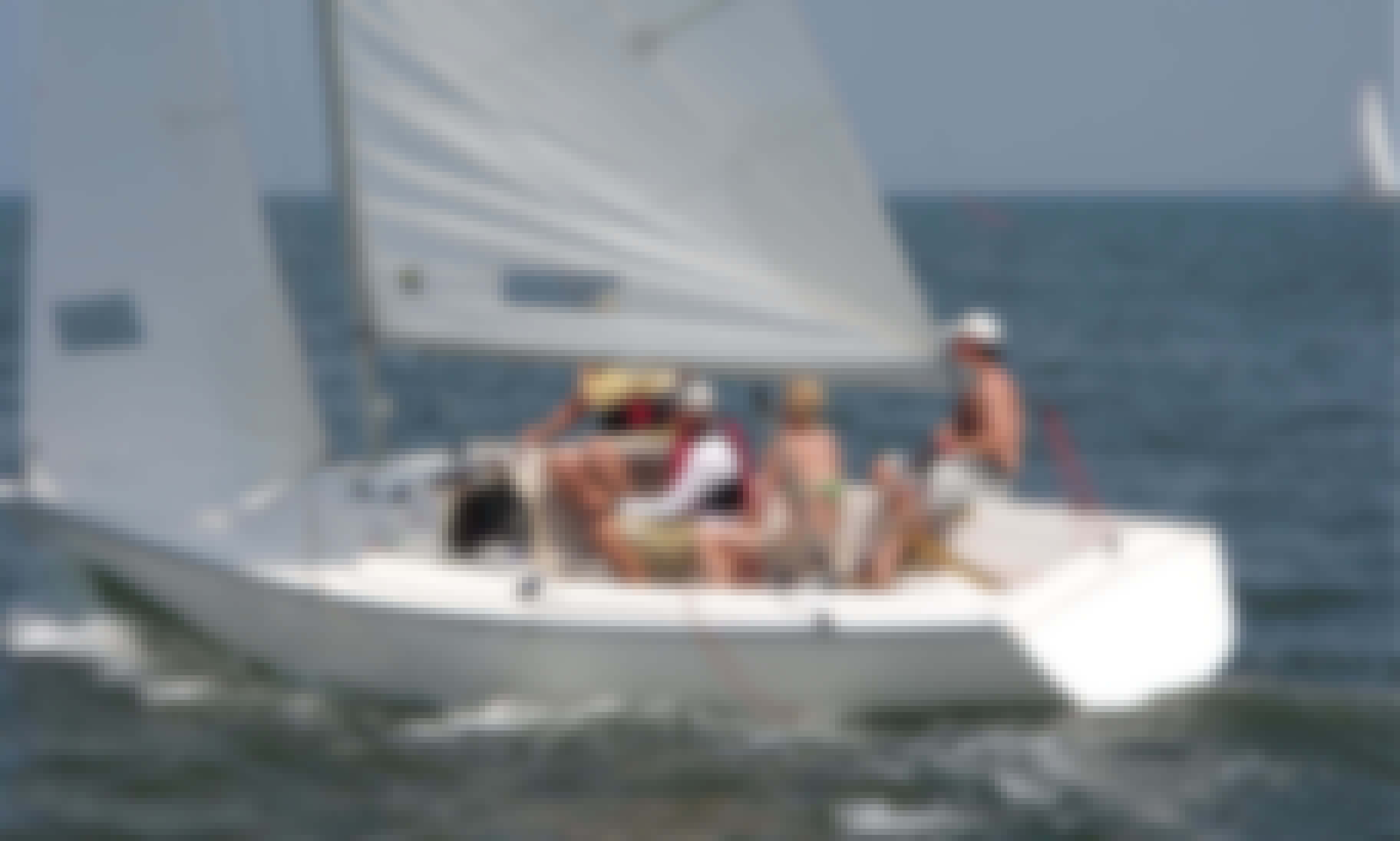 Rent a Fun 23' Sonar Sail Boat for Up to 5 Guests in Boston, Massachusetts