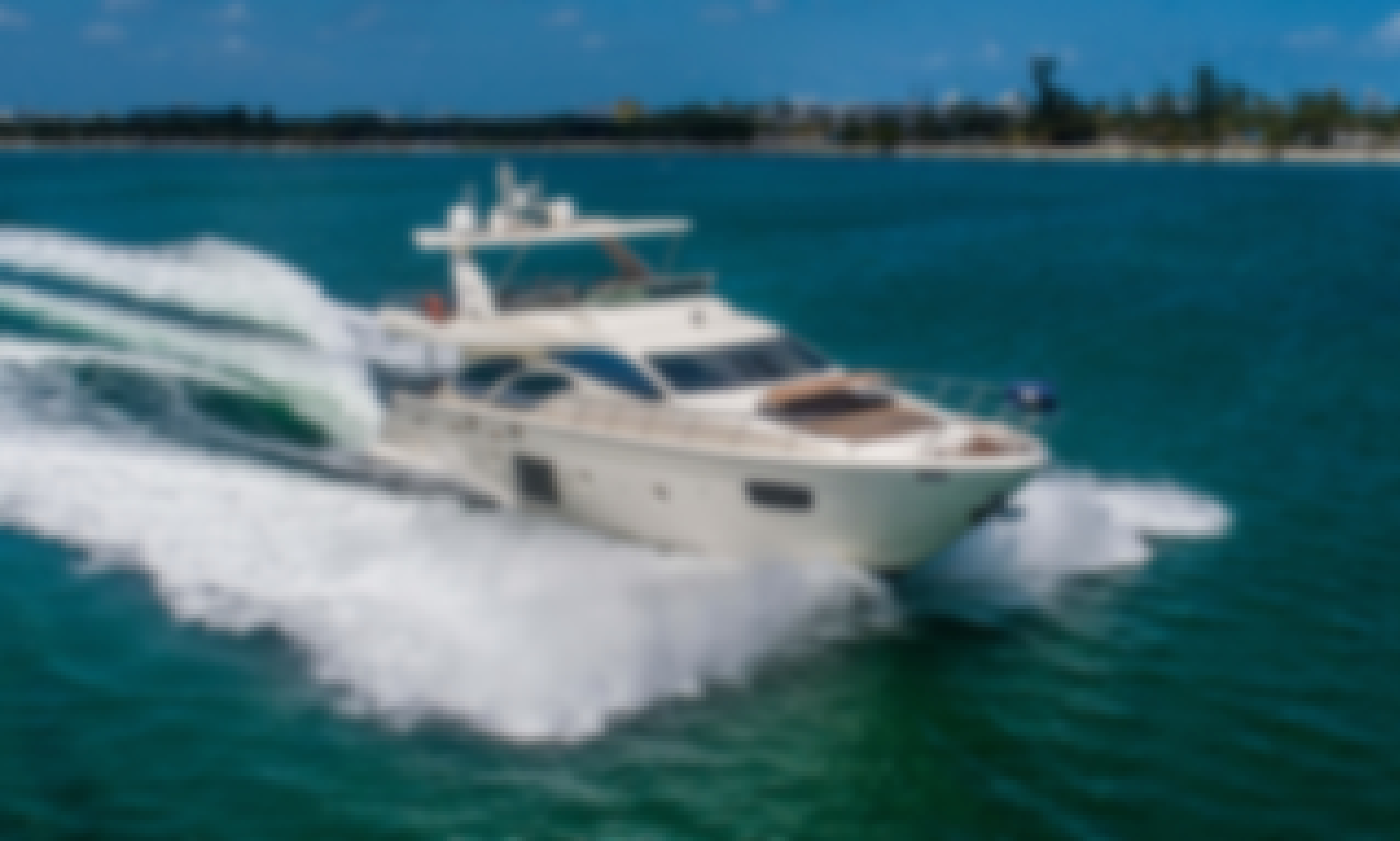 Reserve the 78' Azimut Flybridge in Miami, Florida for 13 person!