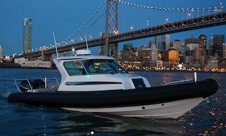 28' Protector RIB Boat Rental In San Francisco Bay Area, Richmond, Berkeley, Sausalito