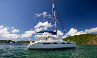 46ft 'Sealma' Leopard Cruising Catamaran Rental in True Blue, Saint George