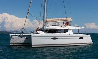 'Little Bird' Fountaine-Pajot Helia 44 Sailing Catamaran in True Blue, Saint George