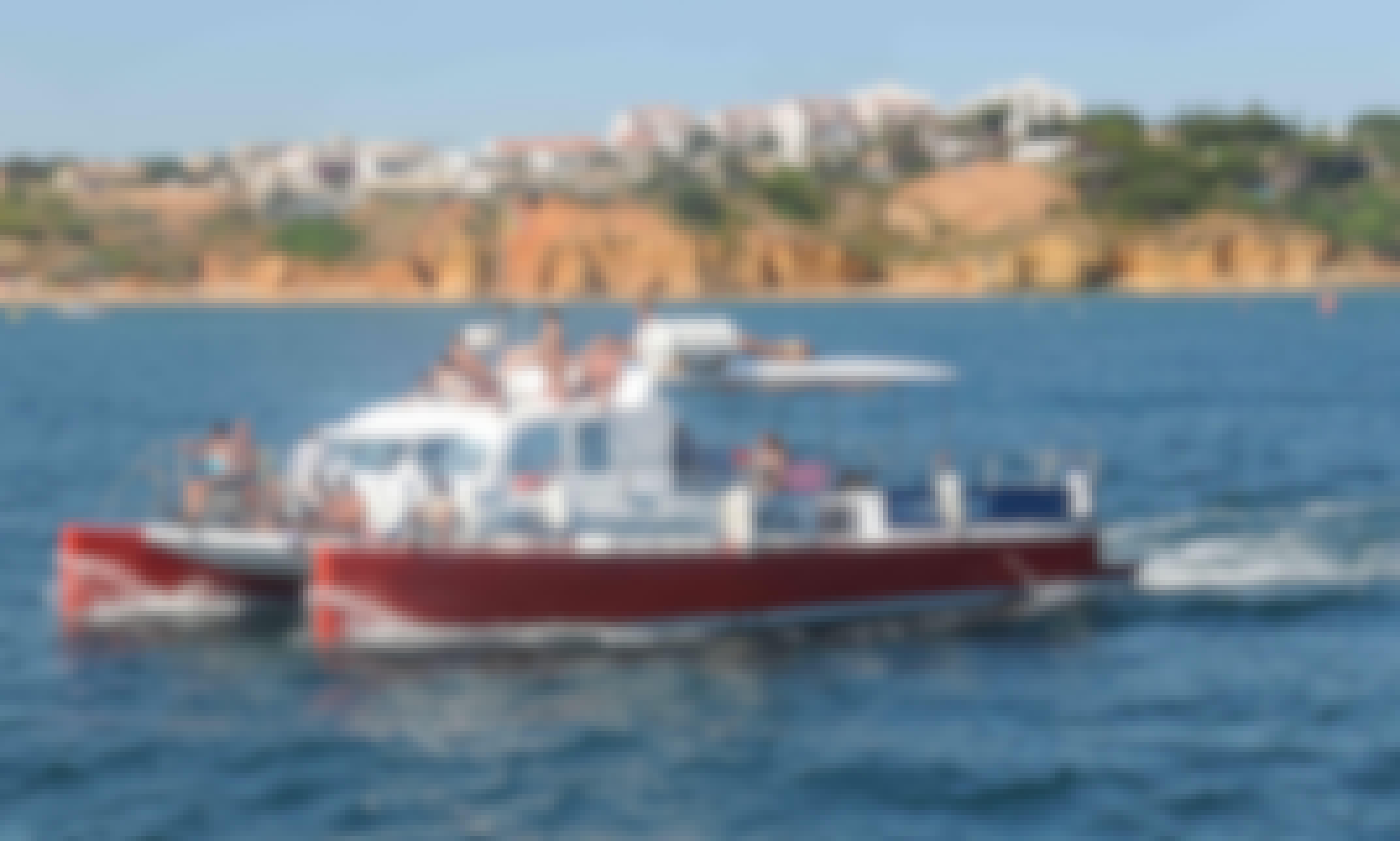 50' Party Catamaran for 44 People in Quarteira, Faro