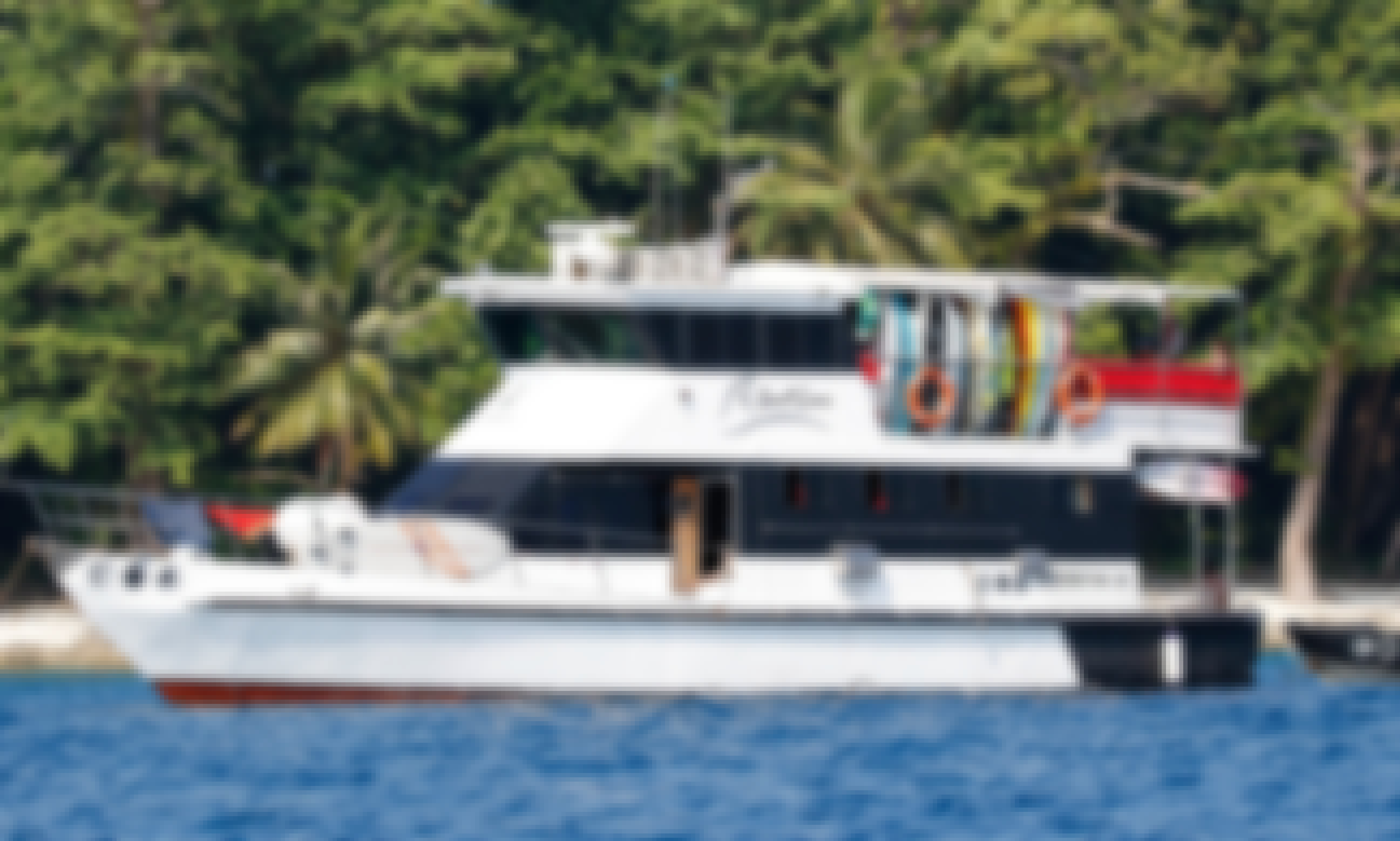 Enjoy Mentawai Surf Charter , Indonesia on 59' Swell Lines Power Mega Yacht