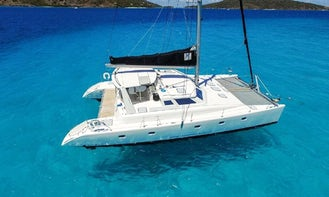 Half Day 50' Private Sailing Catamaran. Luxury, Beach and Snorkel. Departs Red Hook