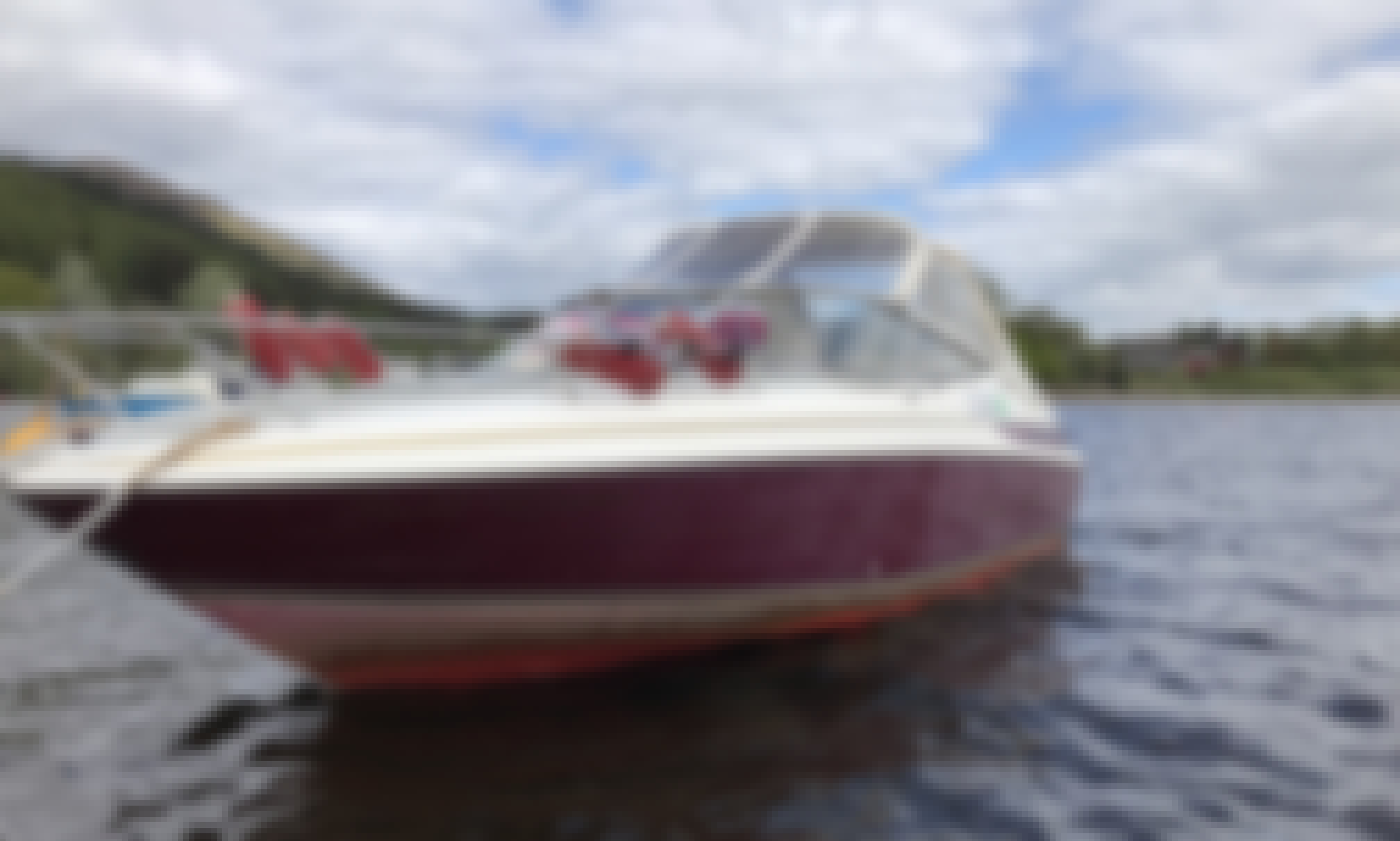 Rent a Maxum 2300SC Power Boat on Loch Lomond, Scotland