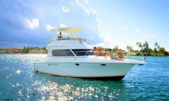 45ft Silverton Sport yacht for charter... Best of its size on the Island!!!