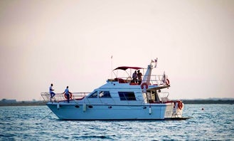 DEEP BLUE IS 45 ft Brichwood Motor Yacht Charter for 15 People in Larnaca, Cyprus