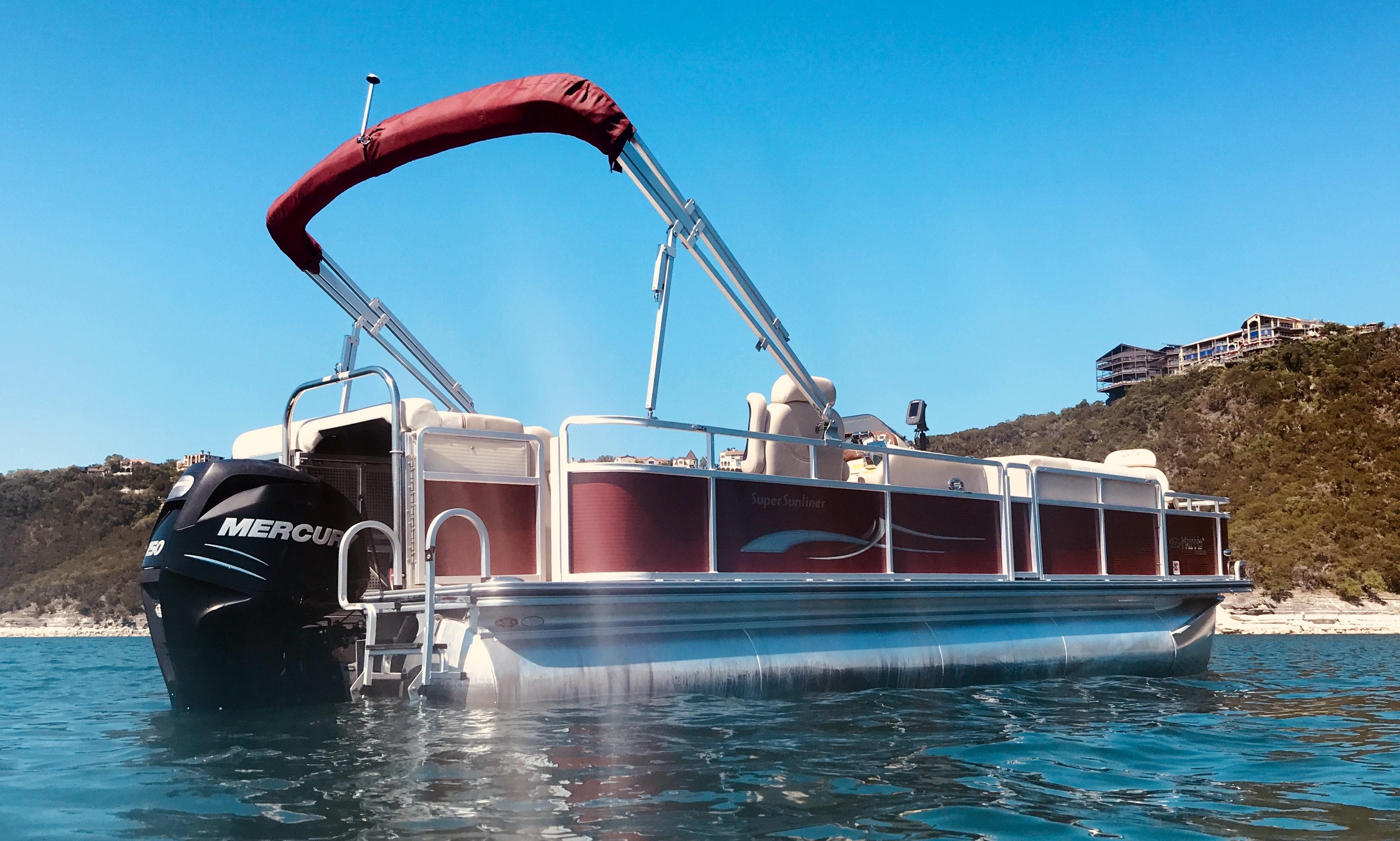 Harris 230 Ssl Lx Pontoon Boat On Lake Travis In Austin