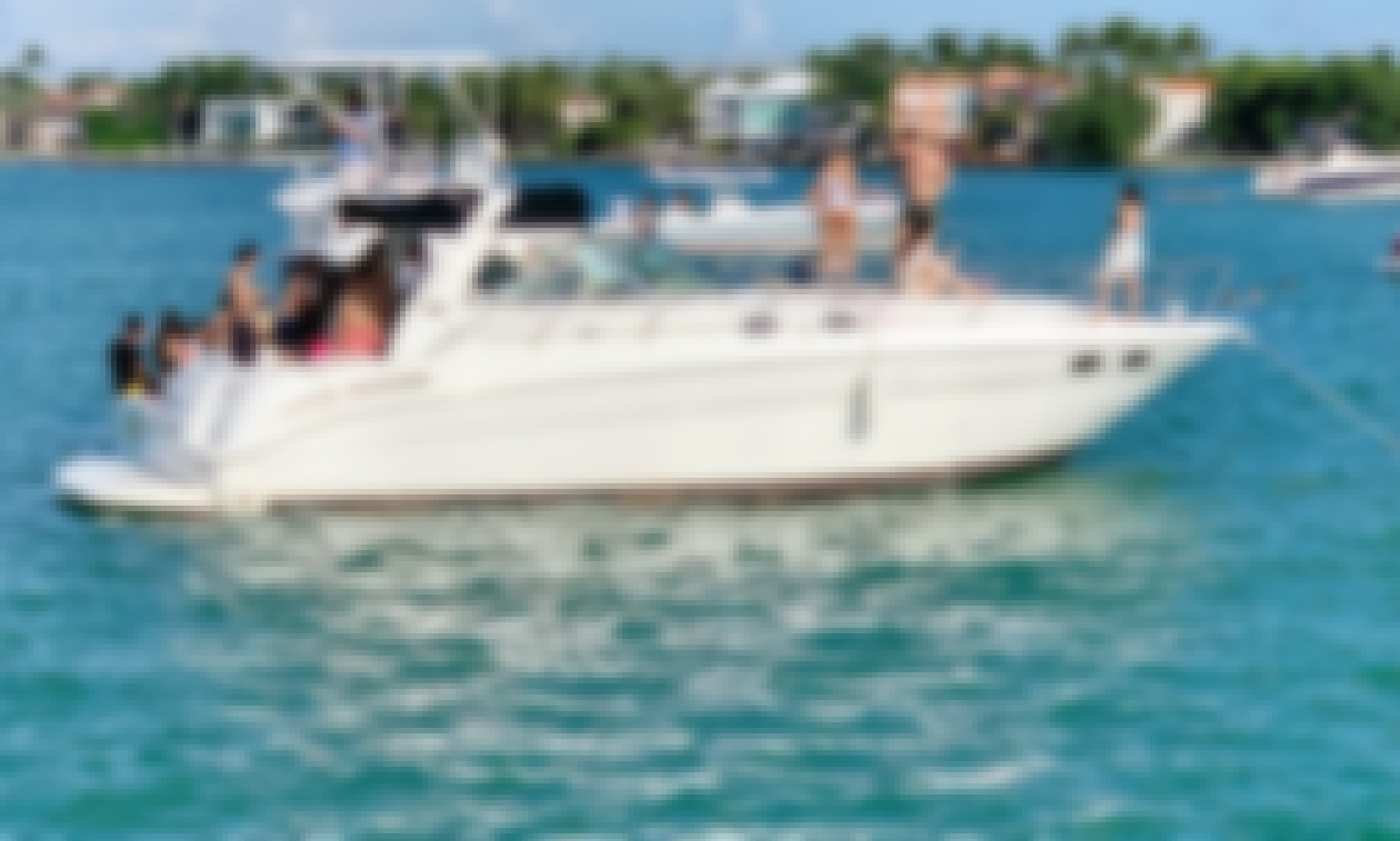 41' Sea Ray Motor Yacht at Brickell Boat Charters in Miami, Florida