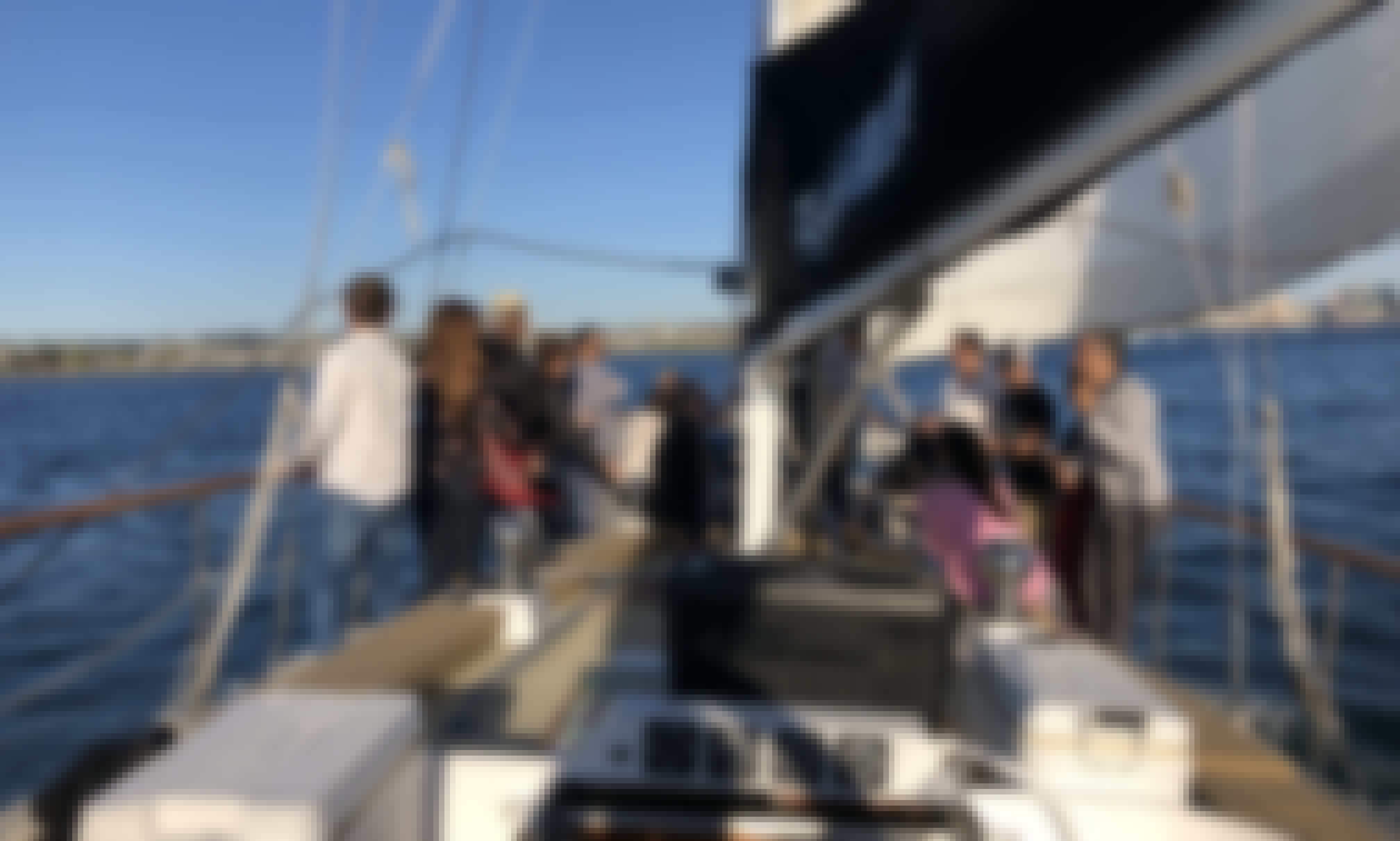 Sailing in San Diego, California Aboard a Custom Sailboat for Up to 38 People