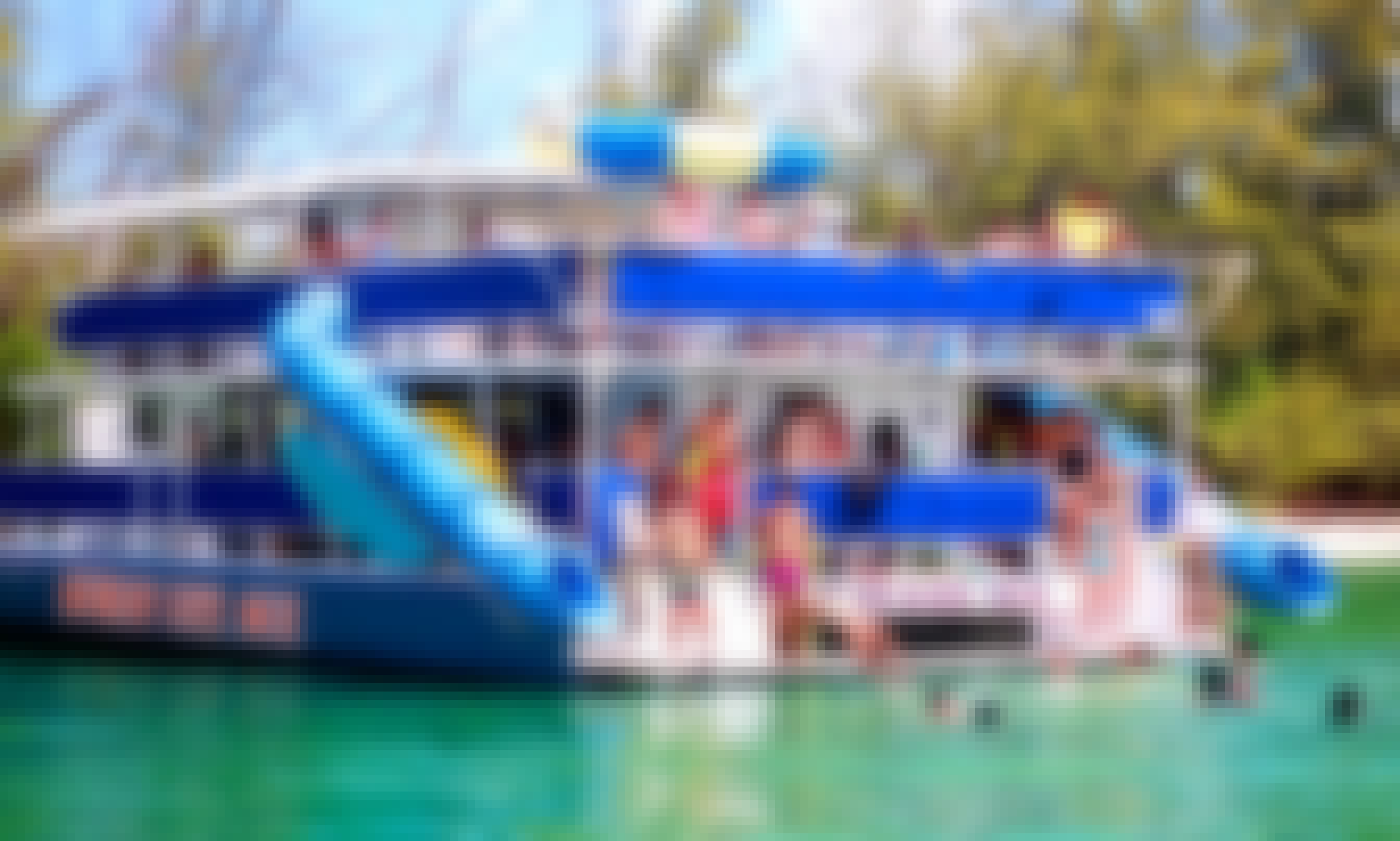 Join Us For A Great Swim Cruise On A Power Catamaran With Water Slides In Miami, Florida