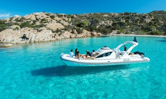 Best private tour rent a inflatable boat Experience, Hire boat with skipper in Maddalena archipelago, Sardinia
