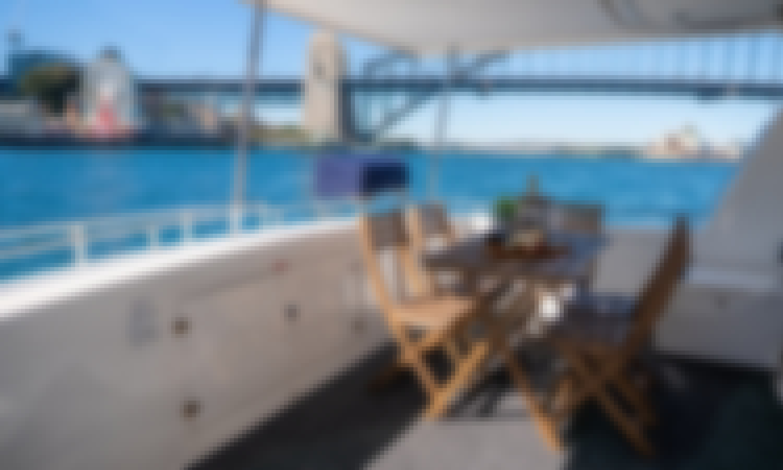 "Luxury Motor Catamaran on ""Enigma X"" with Captain in Sydney, Australia"