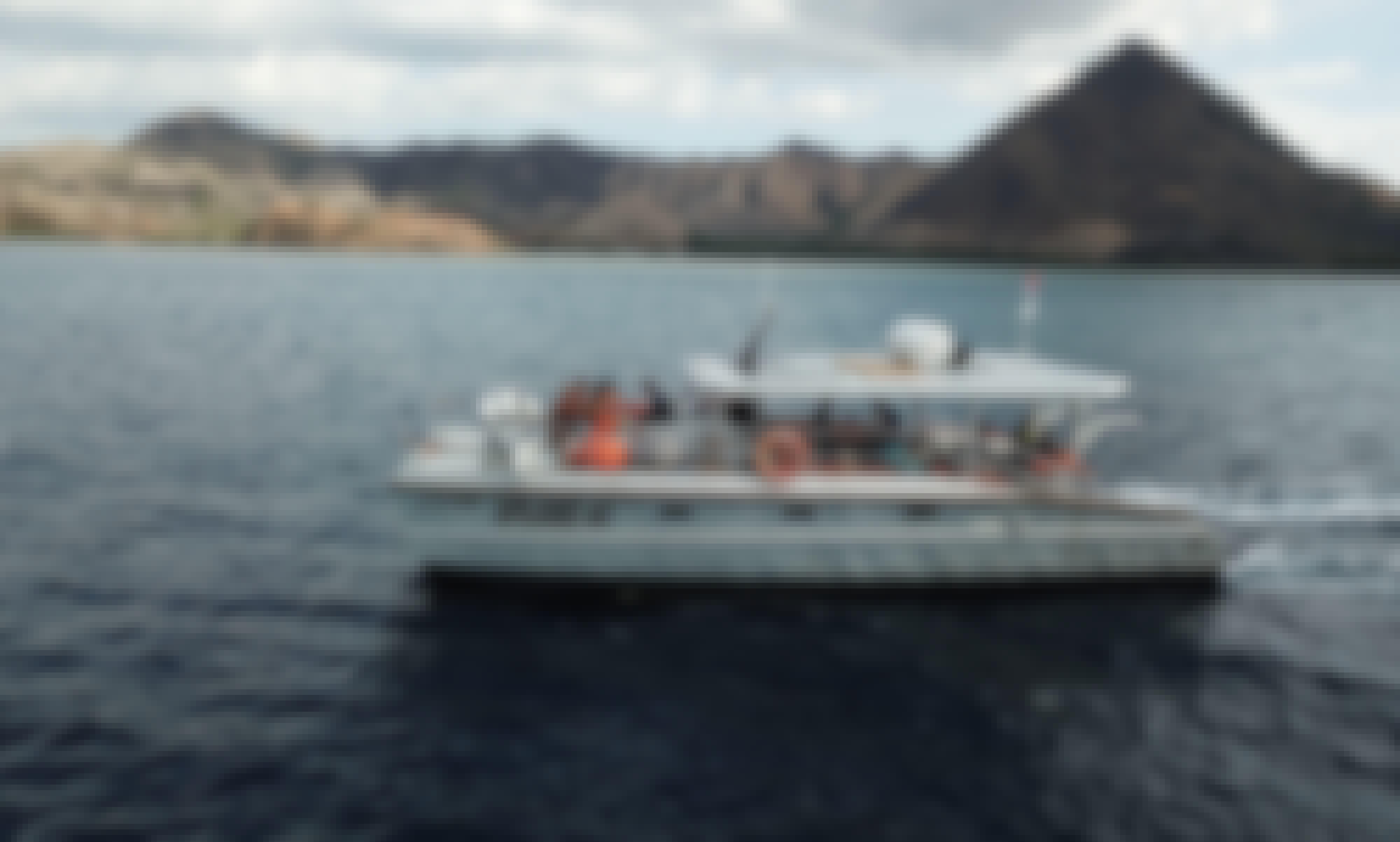 Komodo Day Trips on XPlore 40 Aluminum Power Catamaran!