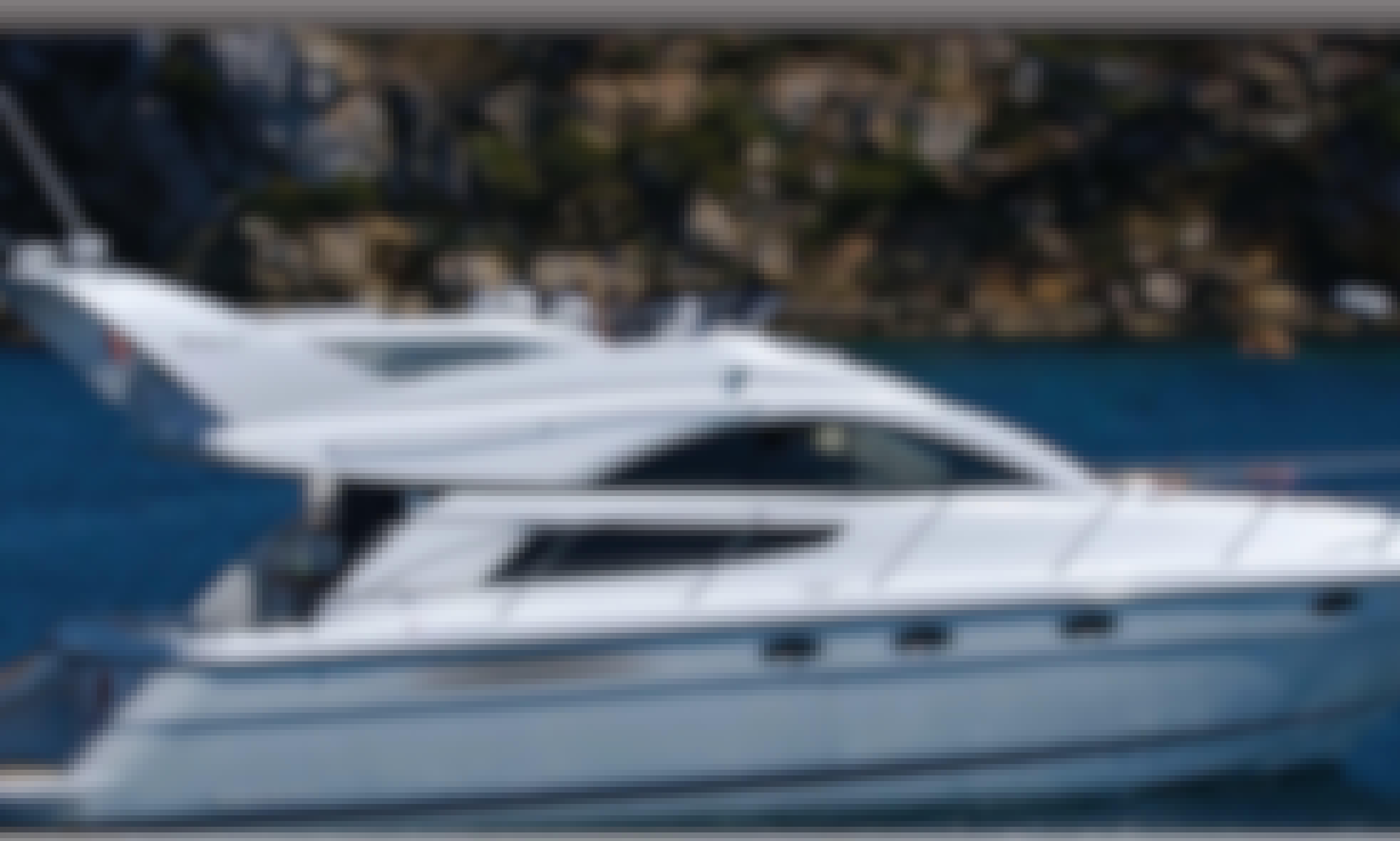 Charter 40' Fairline Phantom Motor Yacht in Ornos, Greece!
