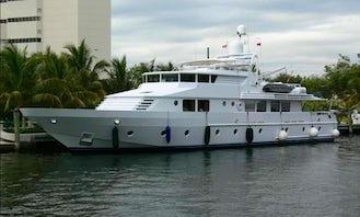 Cruise with 101' Power Mega Yacht on Auckland Harbour, Tauranga Coastline and Tonga, New Zealand