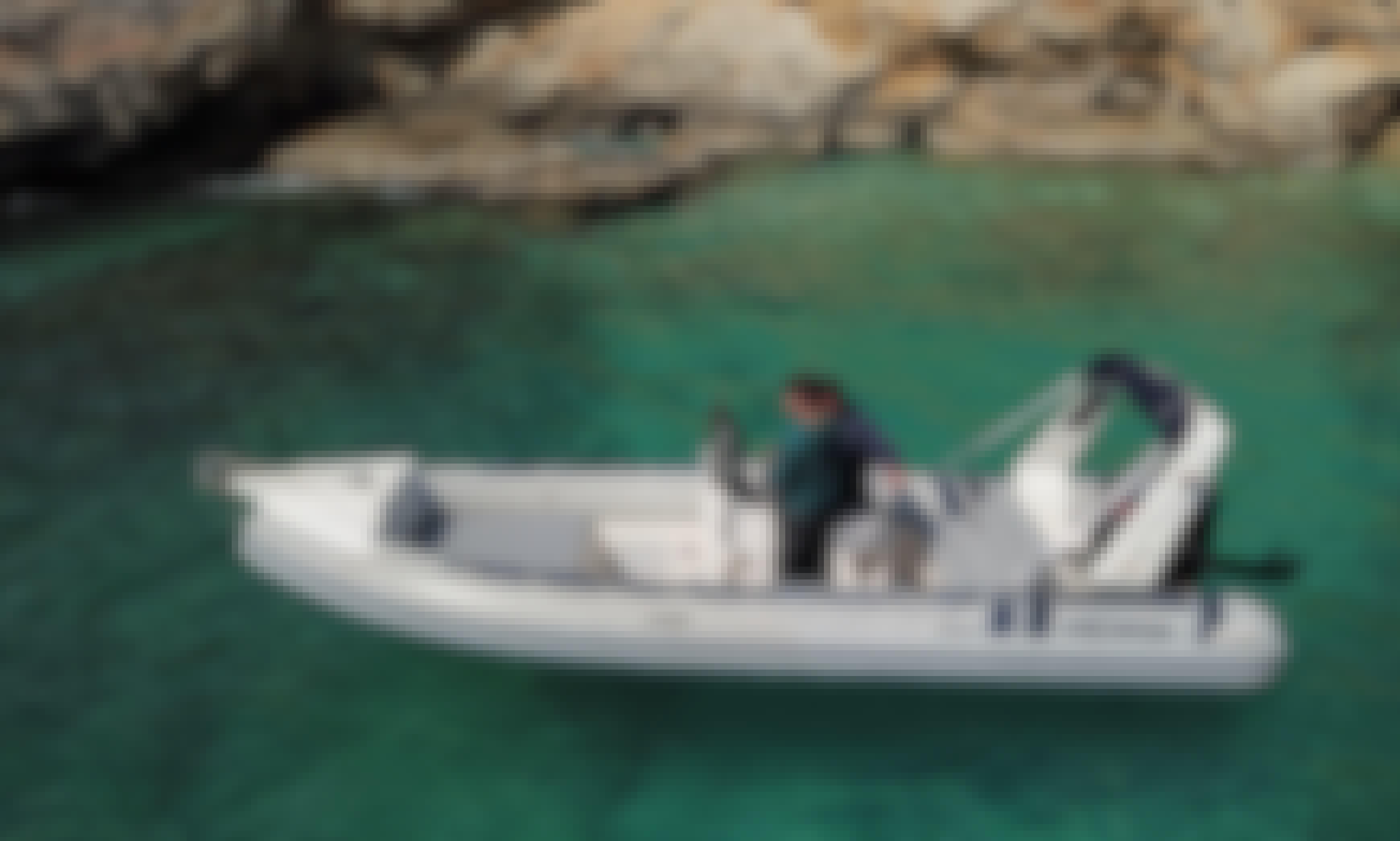 Book the 19' Nathanail Predator RIB in Kissamos, Greece